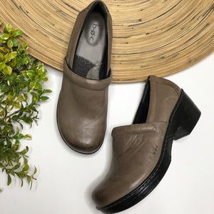 Born taupe leather clogs